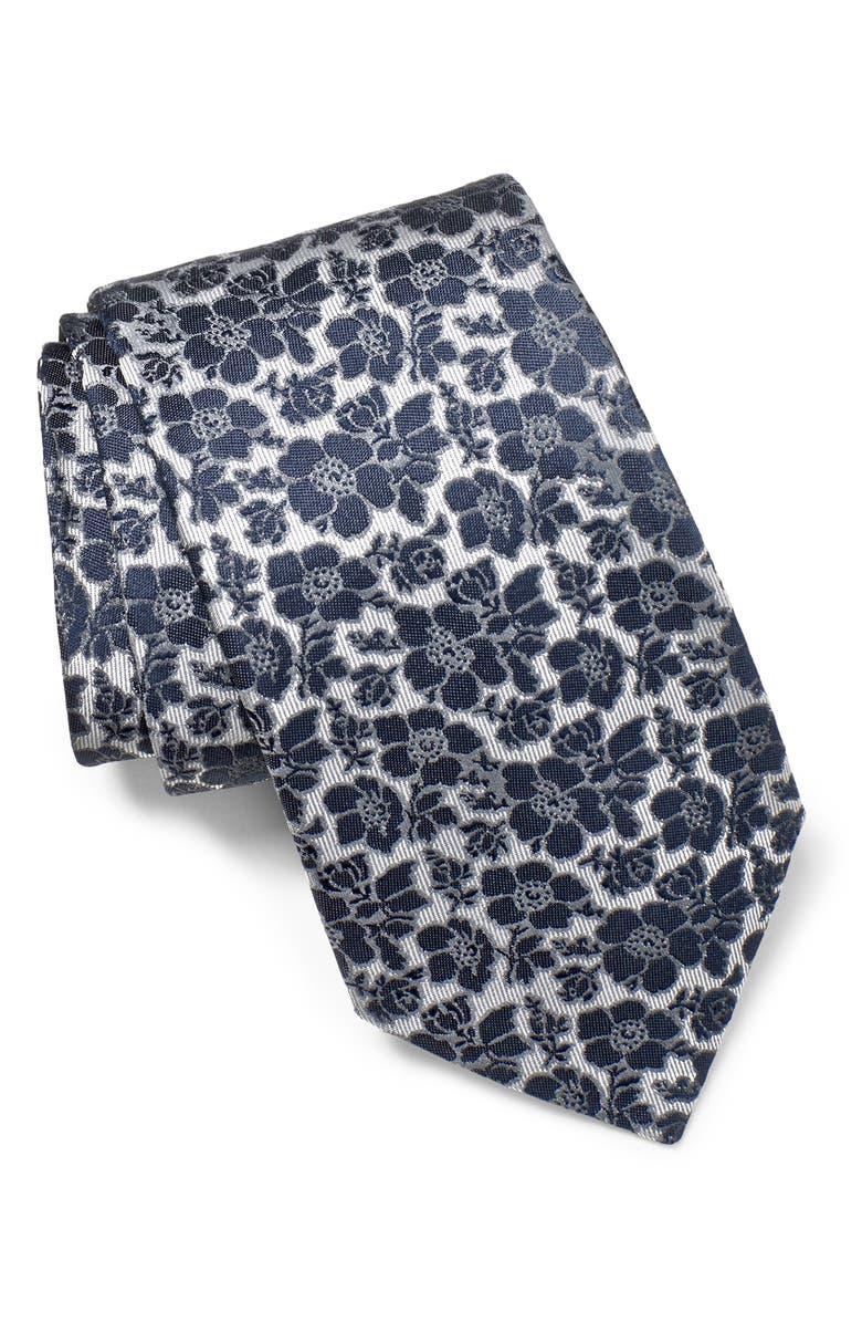 JOHN VARVATOS STAR USA Floral Silk Tie, Main, color, 420