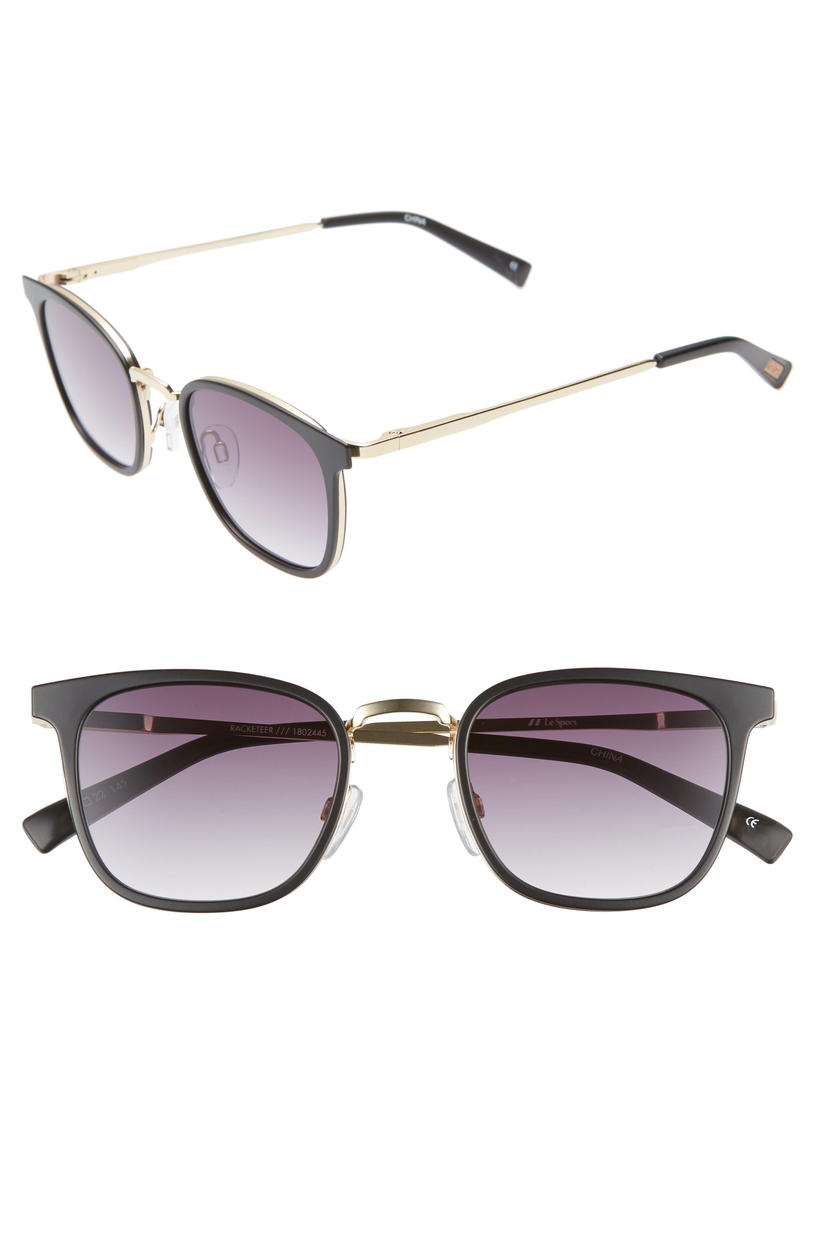Le Specs 4m Horn Rim Sunglasses - Matte Black
