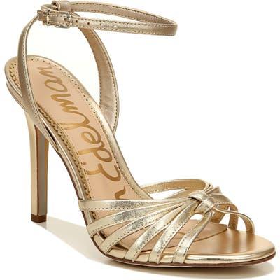 Sam Edelman Adaline Ankle Strap Sandal- Metallic