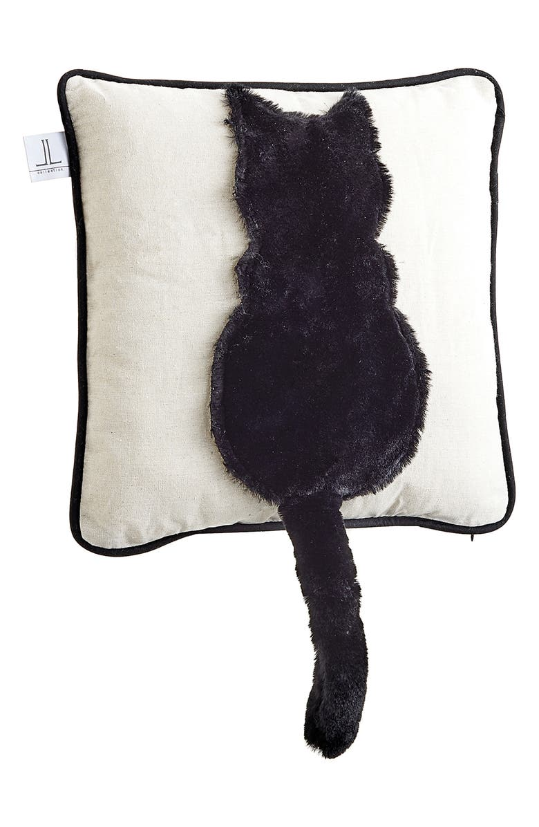 ALLSTATE Cat Tail Accent Pillow, Main, color, BEIGE