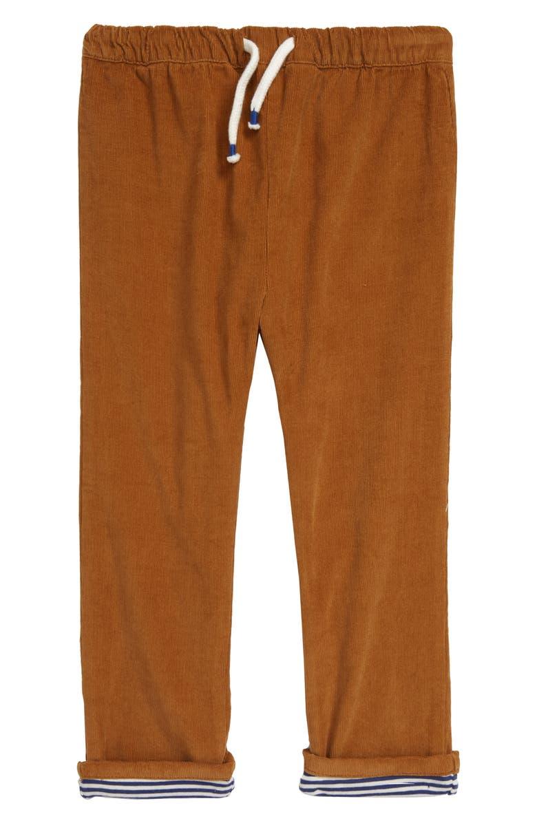 MINI BODEN Corduroy Trousers, Main, color, BUTTERSCOTCH BROWN