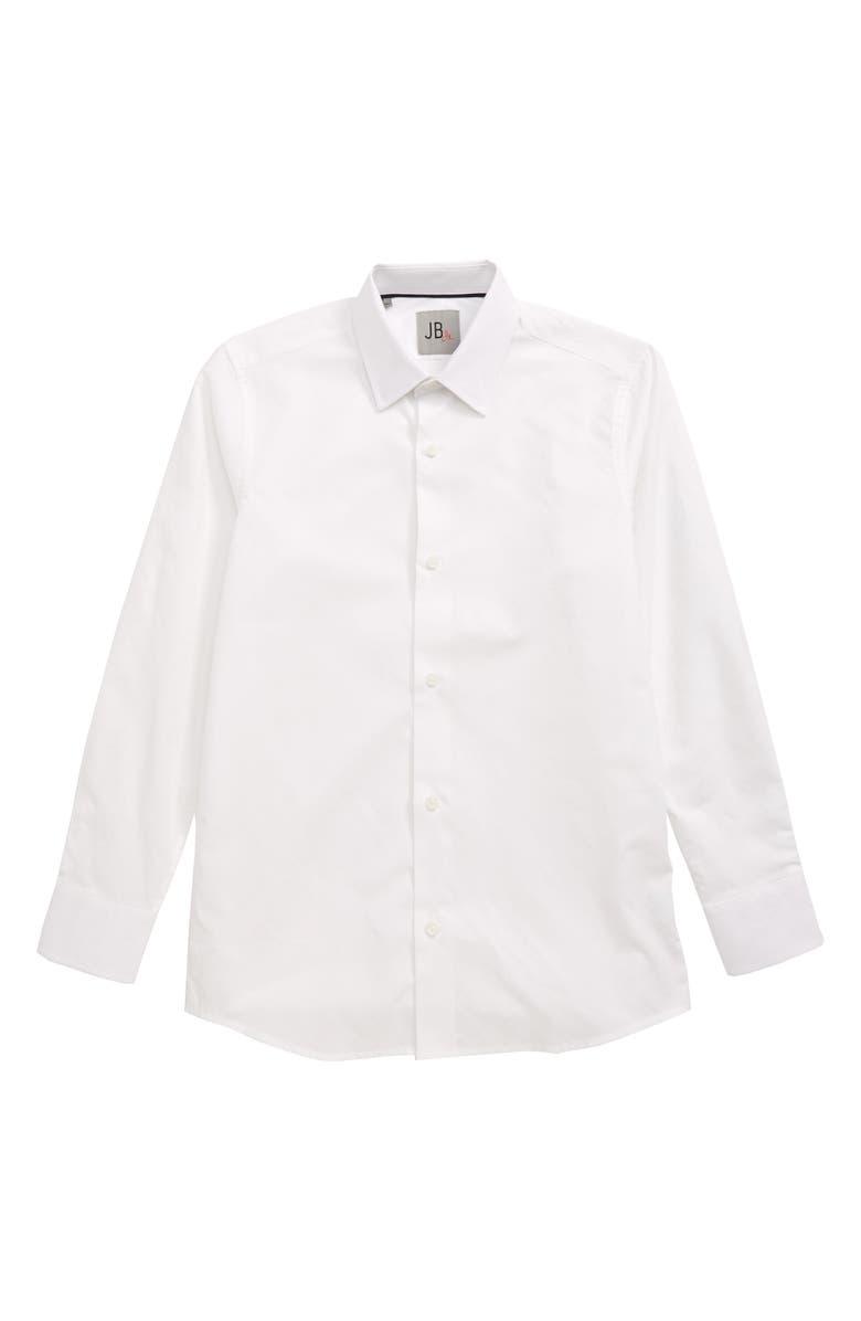 JB JR. JB Jr Tonal Dress Shirt, Main, color, WHITE