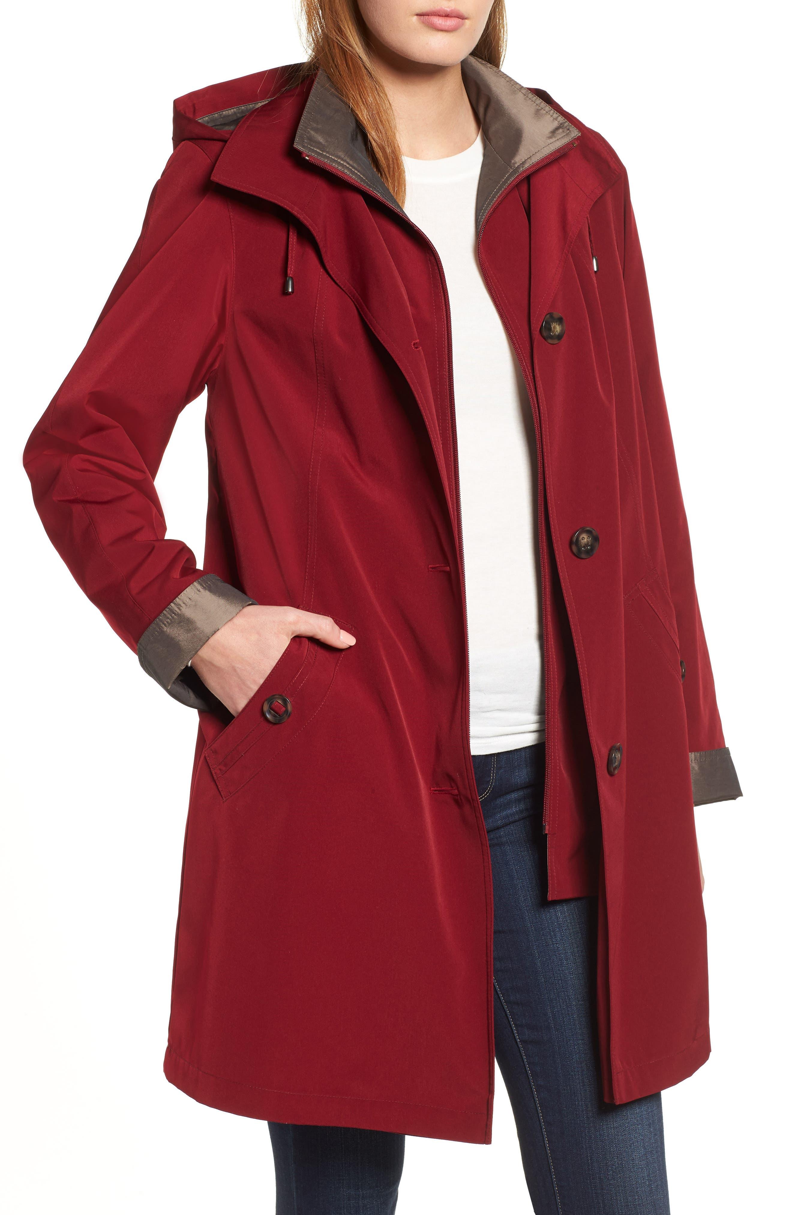 ,                             Detachable Hood & Liner Raincoat,                             Main thumbnail 14, color,                             930