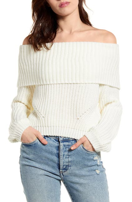 Image of LULUS Carmichael Off the Shoulder Sweater