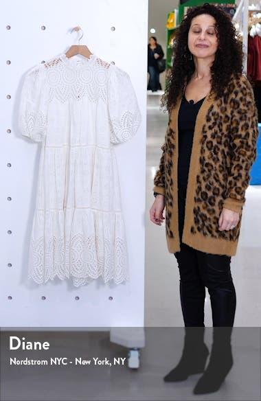 Simone Puff Sleeve Eyelet Shift Dress, sales video thumbnail