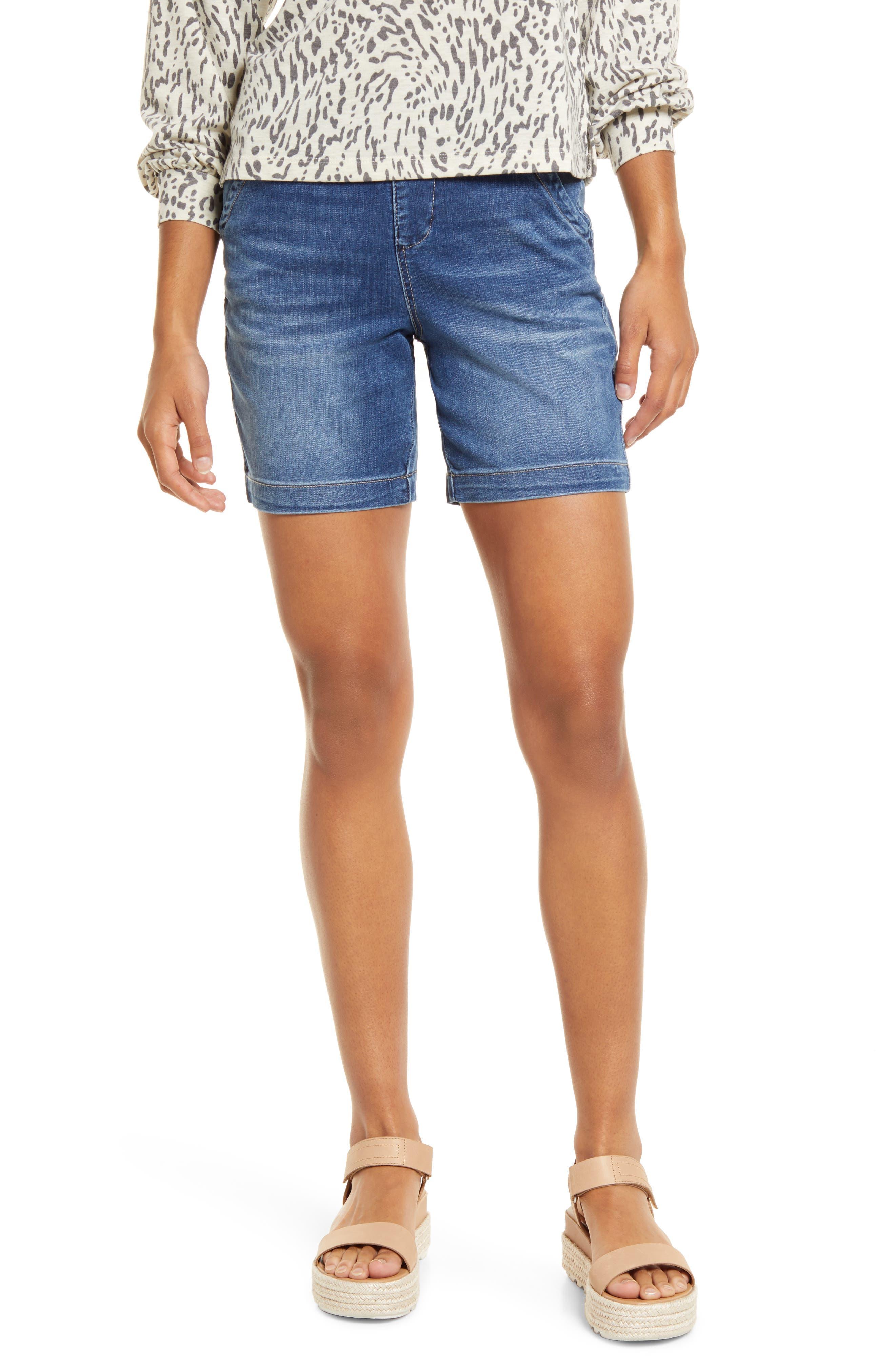 Gracie Pull-On Denim Shorts