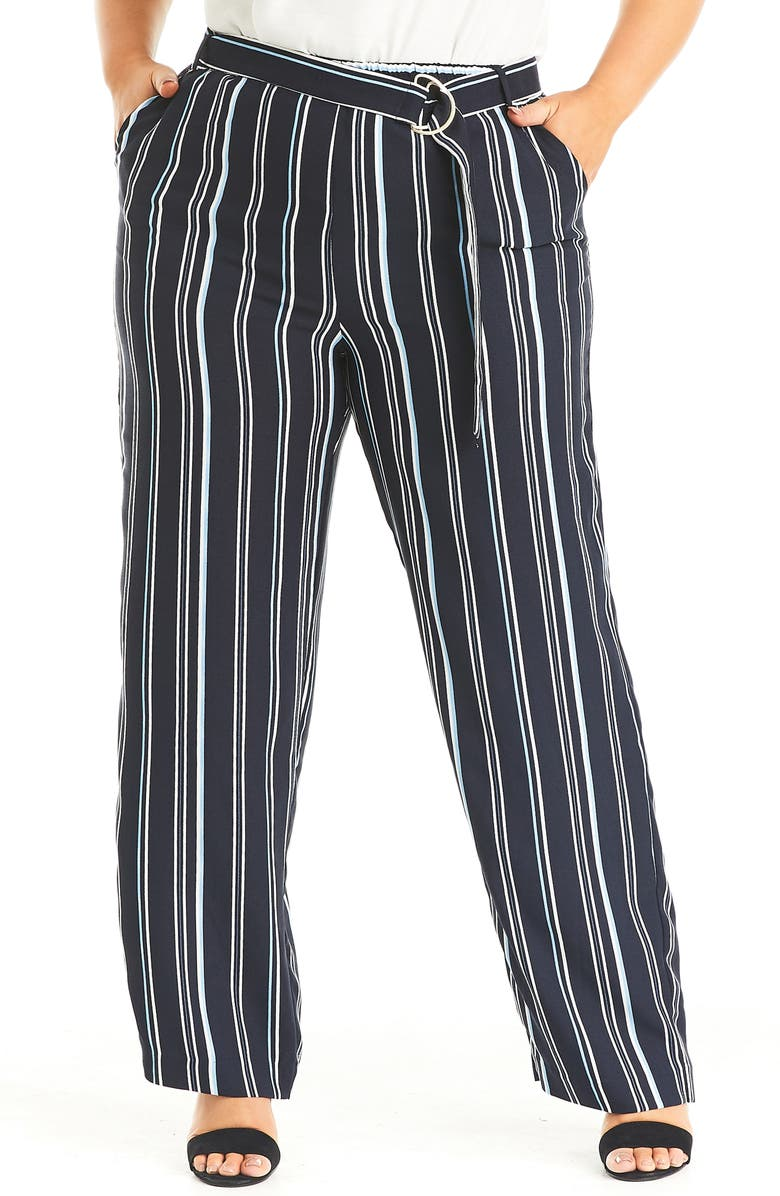 ESTELLE Sky Stripe Pants, Main, color, PRINT