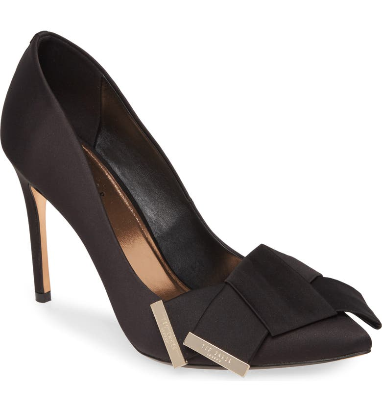 TED BAKER LONDON Iinesi Pump, Main, color, BLACK SATIN