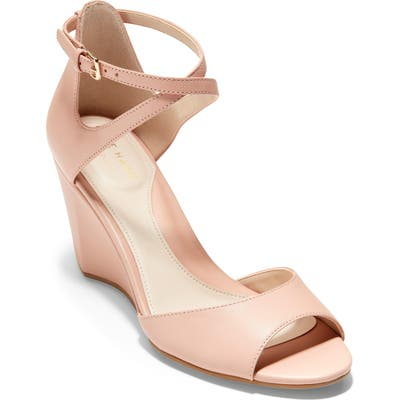 Cole Haan Sadie Open Toe Wedge Sandal, Pink