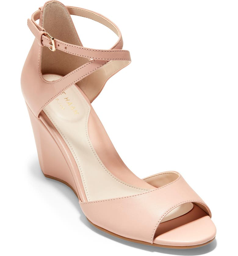 5a1a183b1b Sadie Open Toe Wedge Sandal, Main, color, MAHOGANY ROSE LEATHER