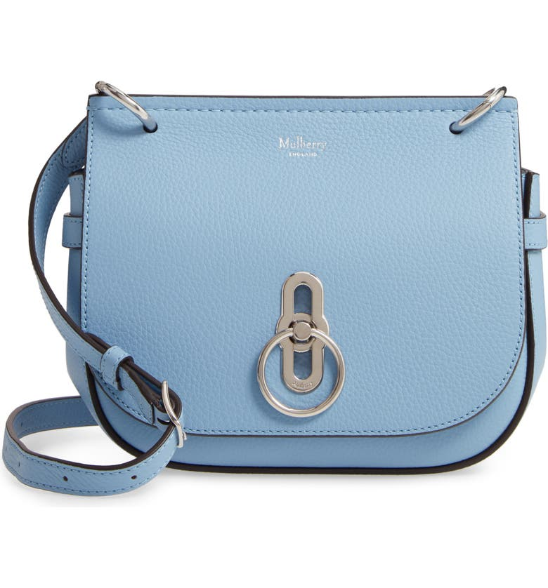 MULBERRY Small Amberley Leather Crossbody Bag, Main, color, 400