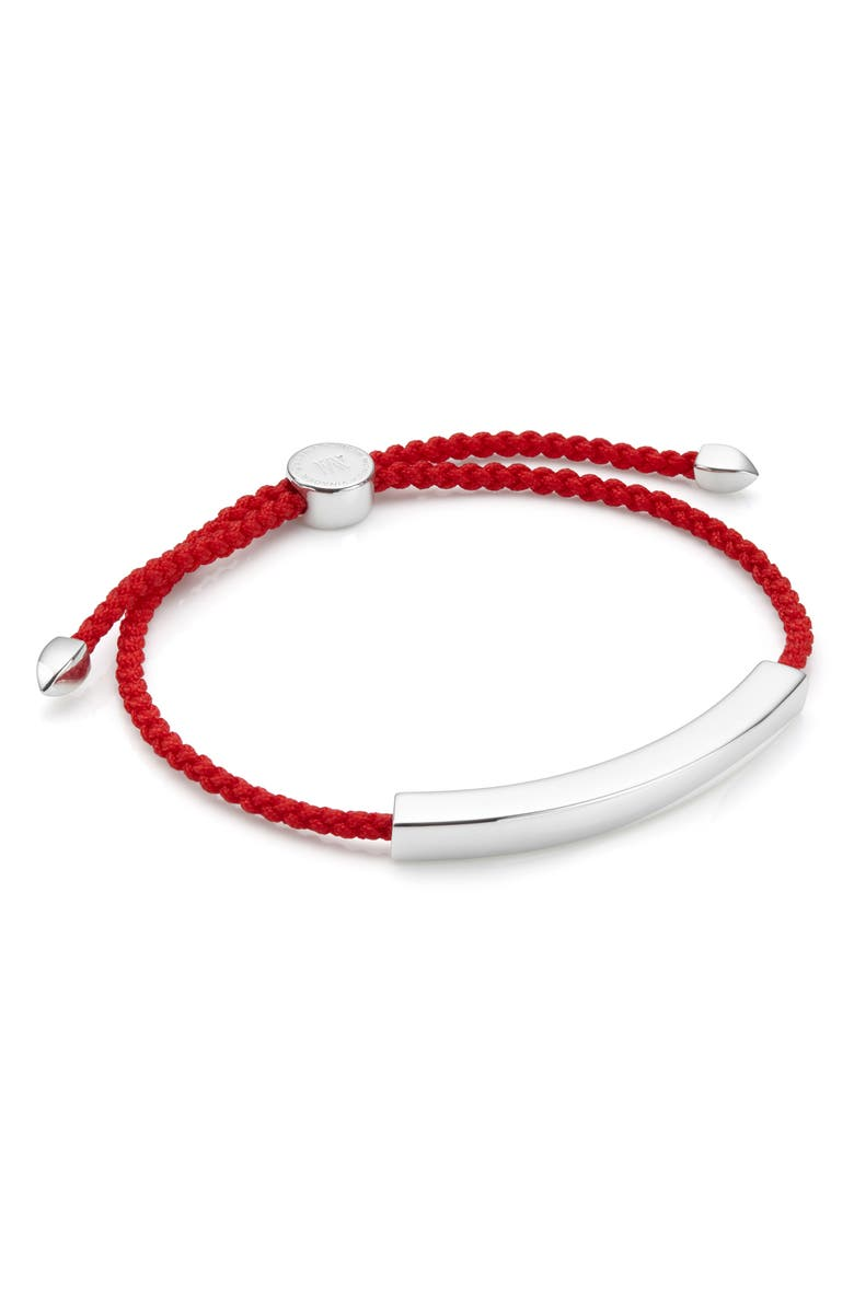 MONICA VINADER Engravable Men's Linear Friendship Bracelet, Main, color, SILVER/ CORAL