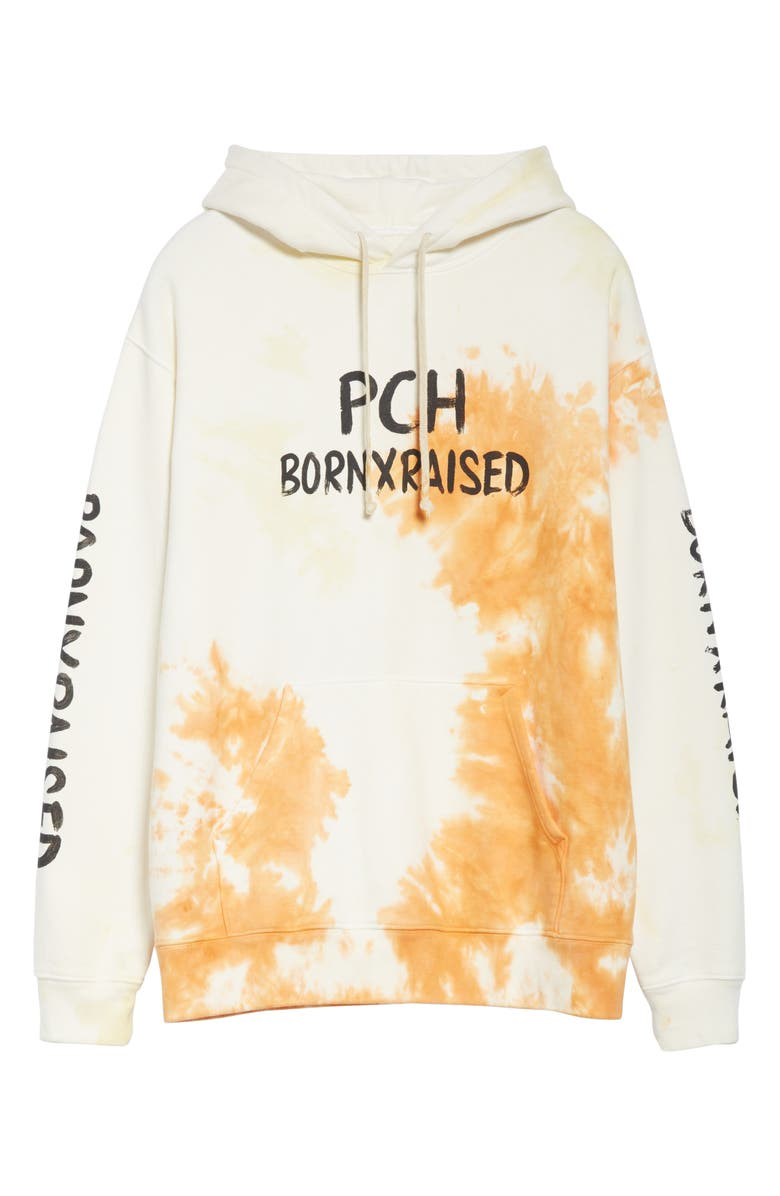 BORN X RAISED Wish You Were Here Hoodie, Main, color, TIE DYE