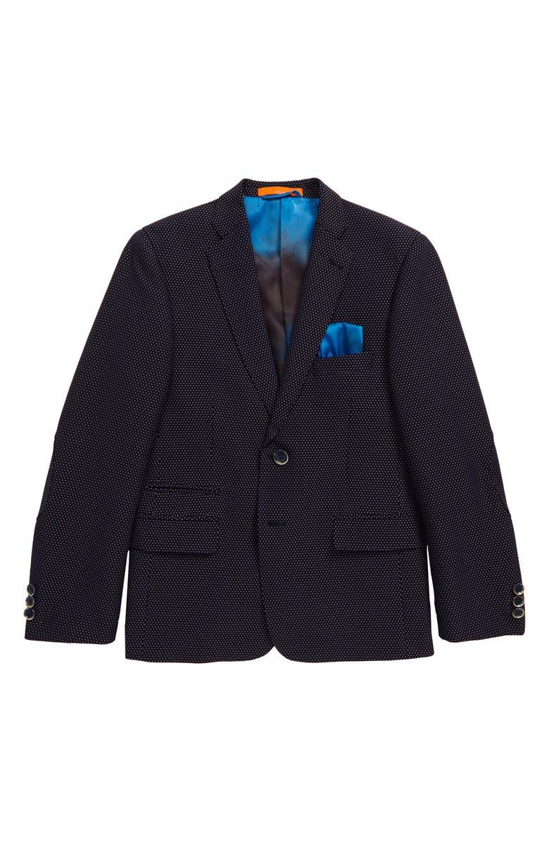 TALLIA Microdot Sport Coat, Main, color, BLUE
