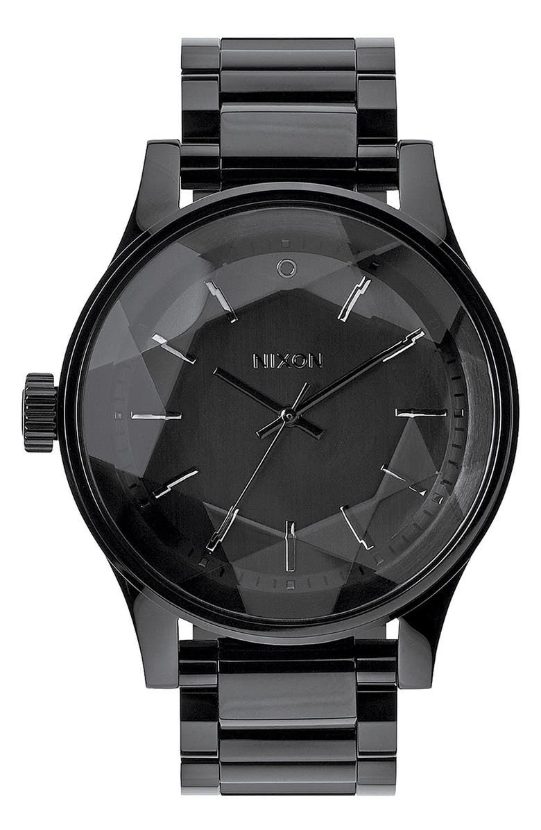 NIXON 'The Facet' Round Bracelet Watch, 42mm, Main, color, 013
