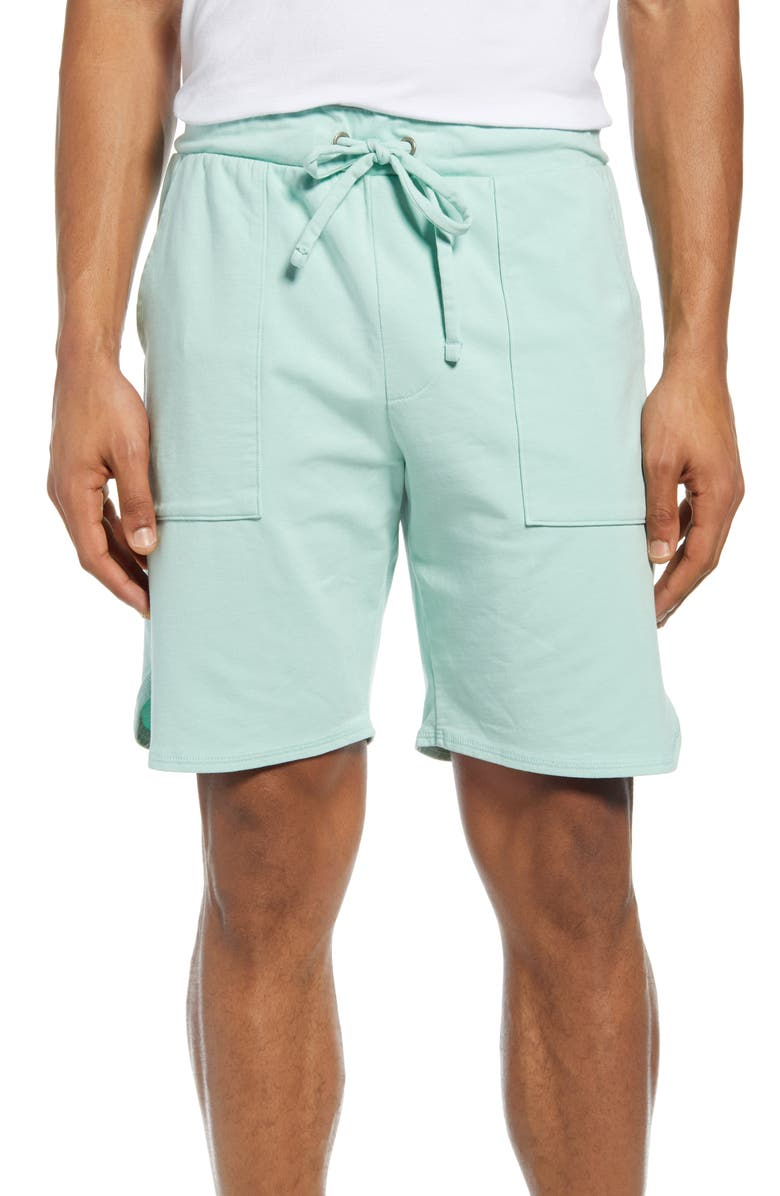 GOODLIFE Scallop Micro Terry Shorts, Main, color, SEAFOAM