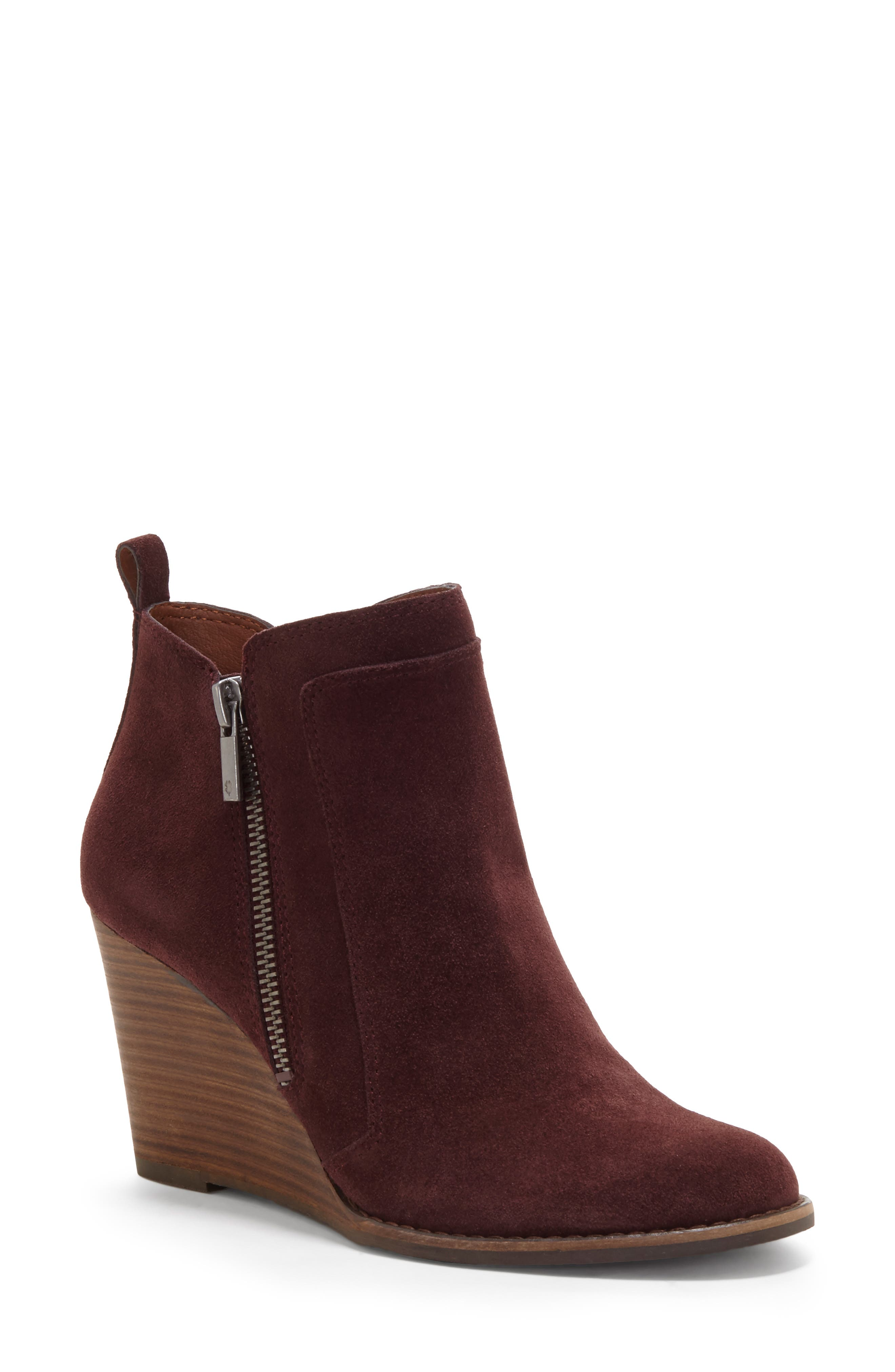 Lucky Brand Yahir Wedge Bootie- Purple