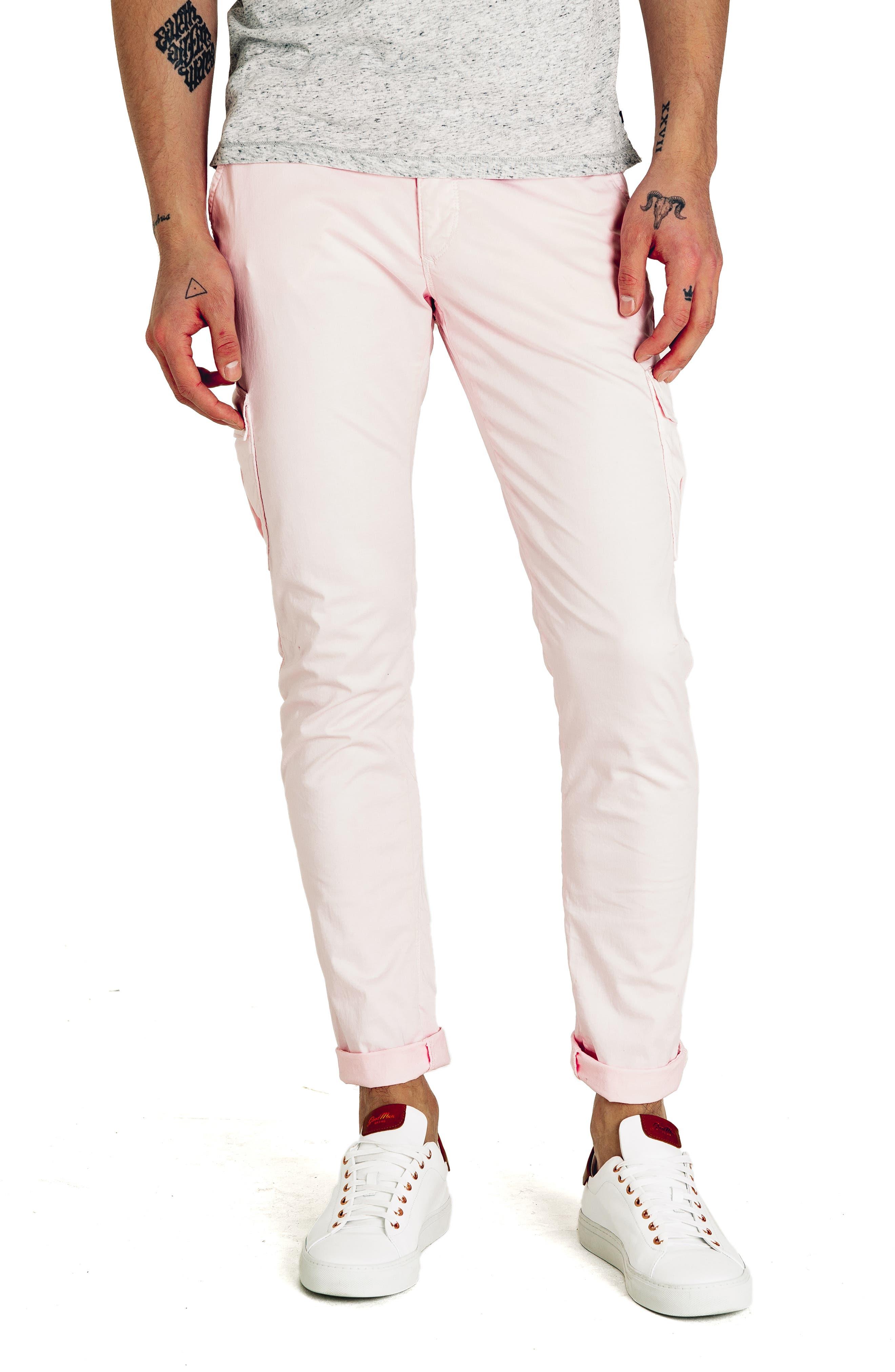 Good Man Brand Jackknife Slim Fit Cargo Pants, Pink