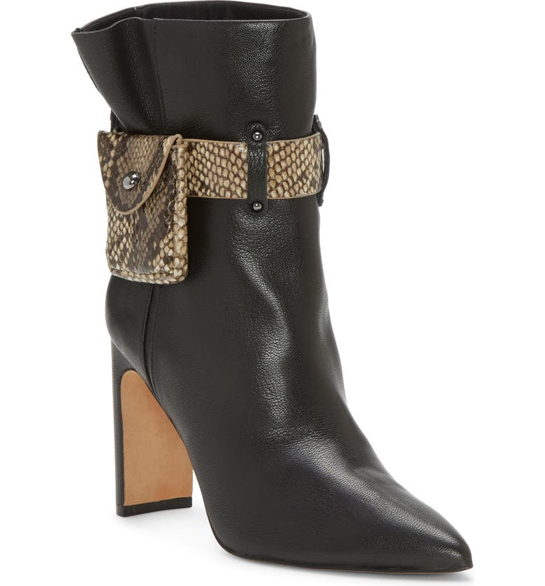 JESSICA SIMPSON Brynne Bootie, Main, color, BLACK LEATHER