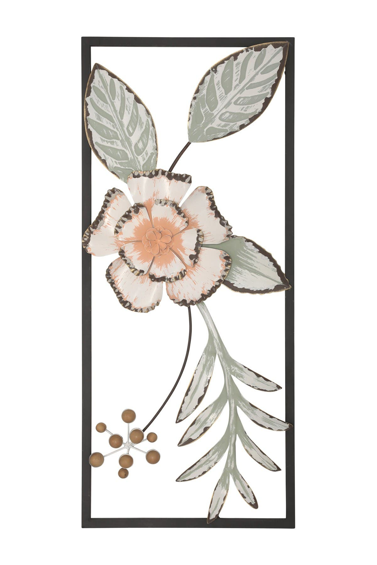 Image of Stratton Home Green Tropical Flower Panel Wall Decor