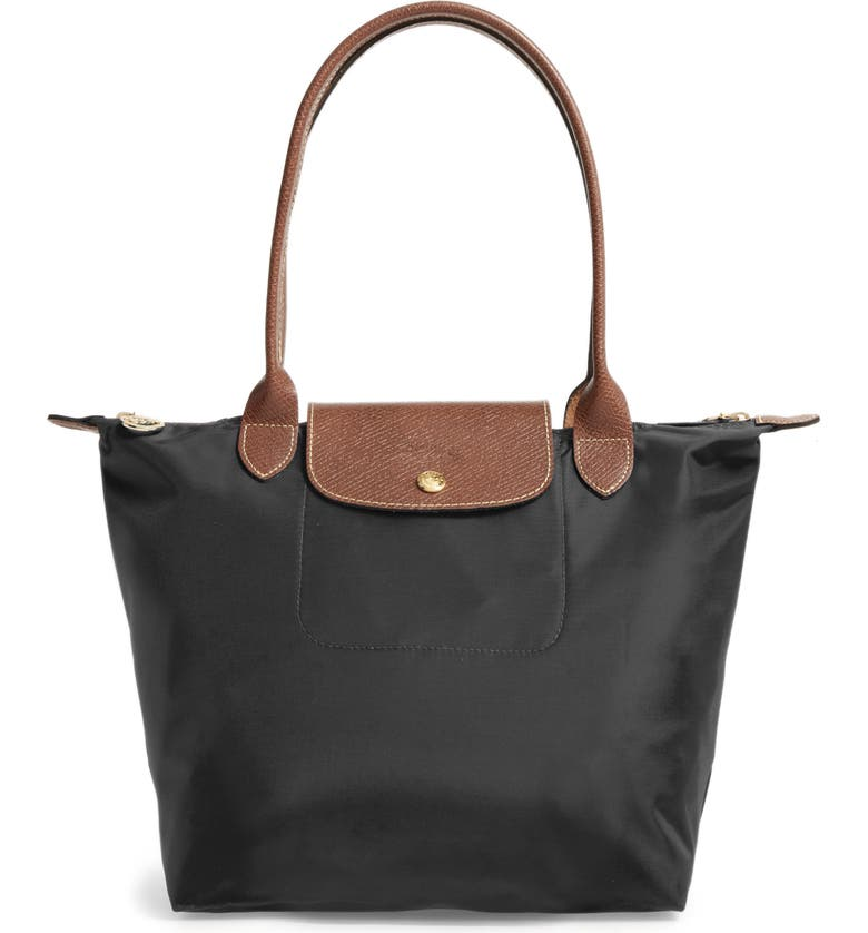 LONGCHAMP 'Small Le Pliage' Tote, Main, color, BLACK