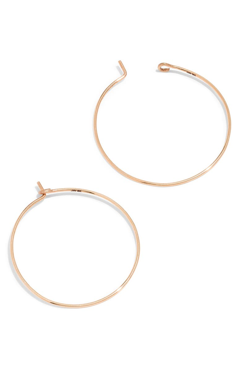 MADEWELL Gold-Filled Hoop Earrings, Main, color, 14K GOLD FILL