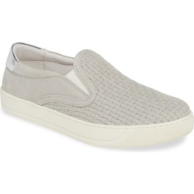 Johnston & Murphy Elaine Woven Slip-On Sneaker- Grey