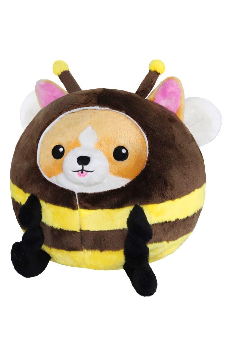 SQUISHABLE Undercover Corgi Bee Stuffed Animal, Main, color, MULTI