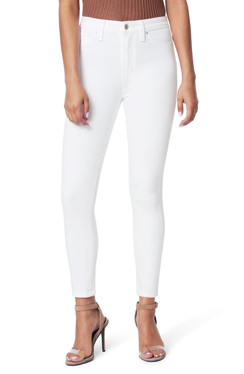 JOE'S The Charlie High Waist Crop Skinny Jeans, Main, color, WHITE