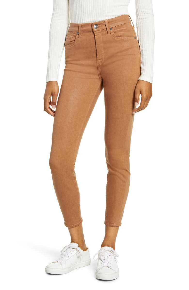 7 FOR ALL MANKIND<SUP>®</SUP> High Waist Ankle Skinny Jeans, Main, color, PENNY