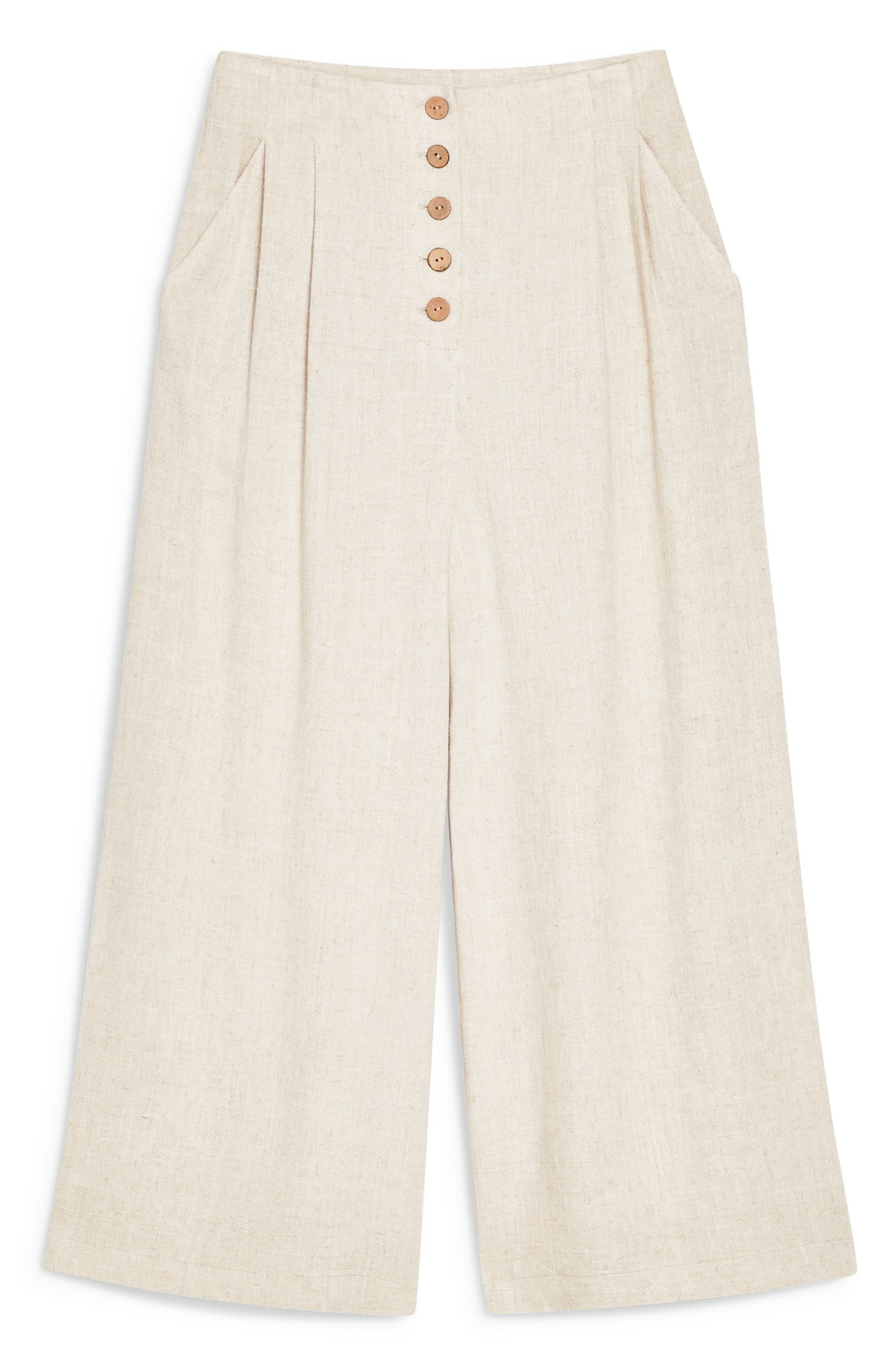 ,                             Coco Cropped Wide Leg Trousers,                             Alternate thumbnail 5, color,                             OATMEAL