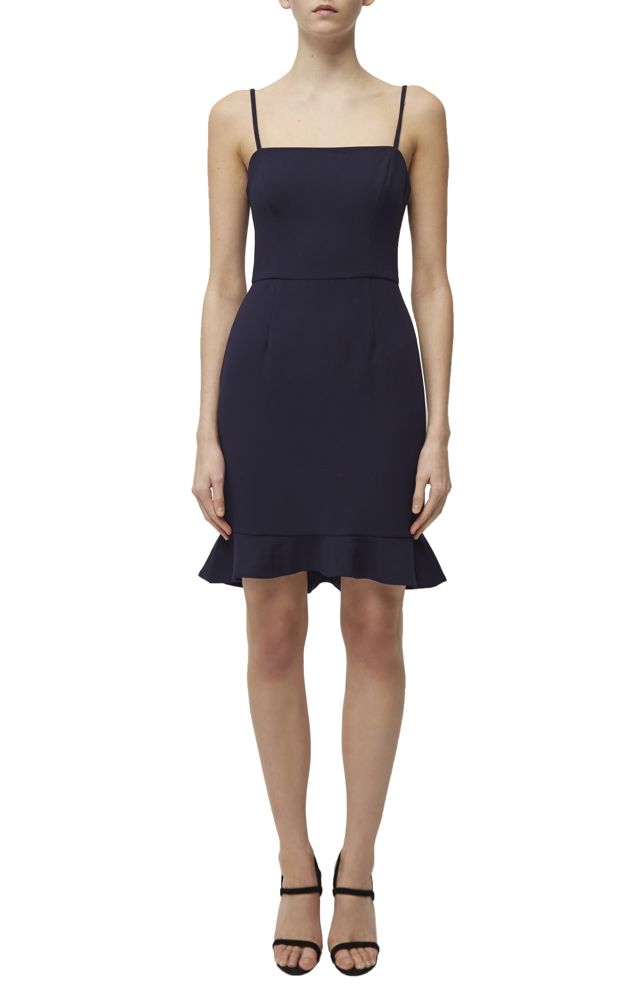 French Connection Whisper Sweetheart Dress, Blue