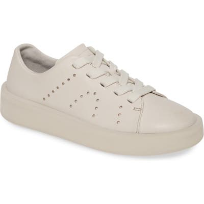 Camper Courb Perforated Low Top Sneaker, Beige