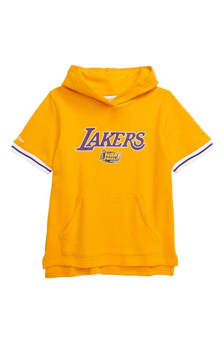 MITCHELL & NESS Los Angeles Lakers French Terry Hoodie, Main, color, 700