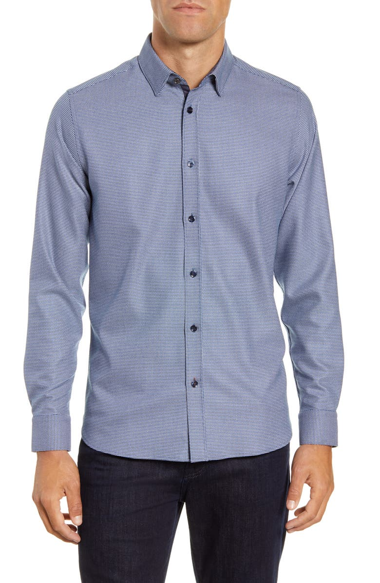 TED BAKER LONDON Slim Fit Button-Up Shirt, Main, color, BLUE