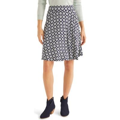 Boden Printed Jersey Skirt, Blue