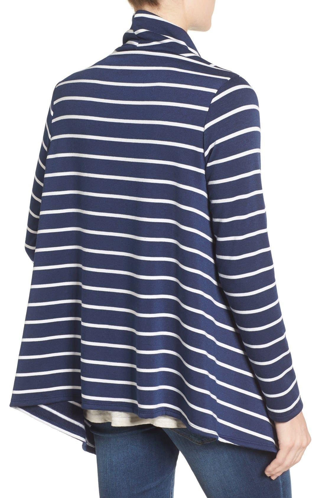 ,                             One-Button Fleece Wrap Cardigan,                             Alternate thumbnail 123, color,                             420