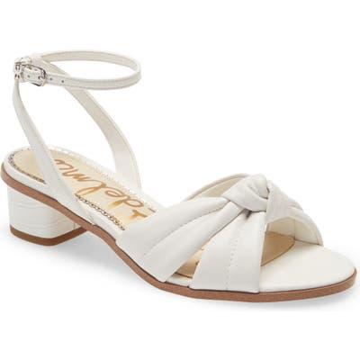 Sam Edelman Ingrid Ankle Strap Sandal, White