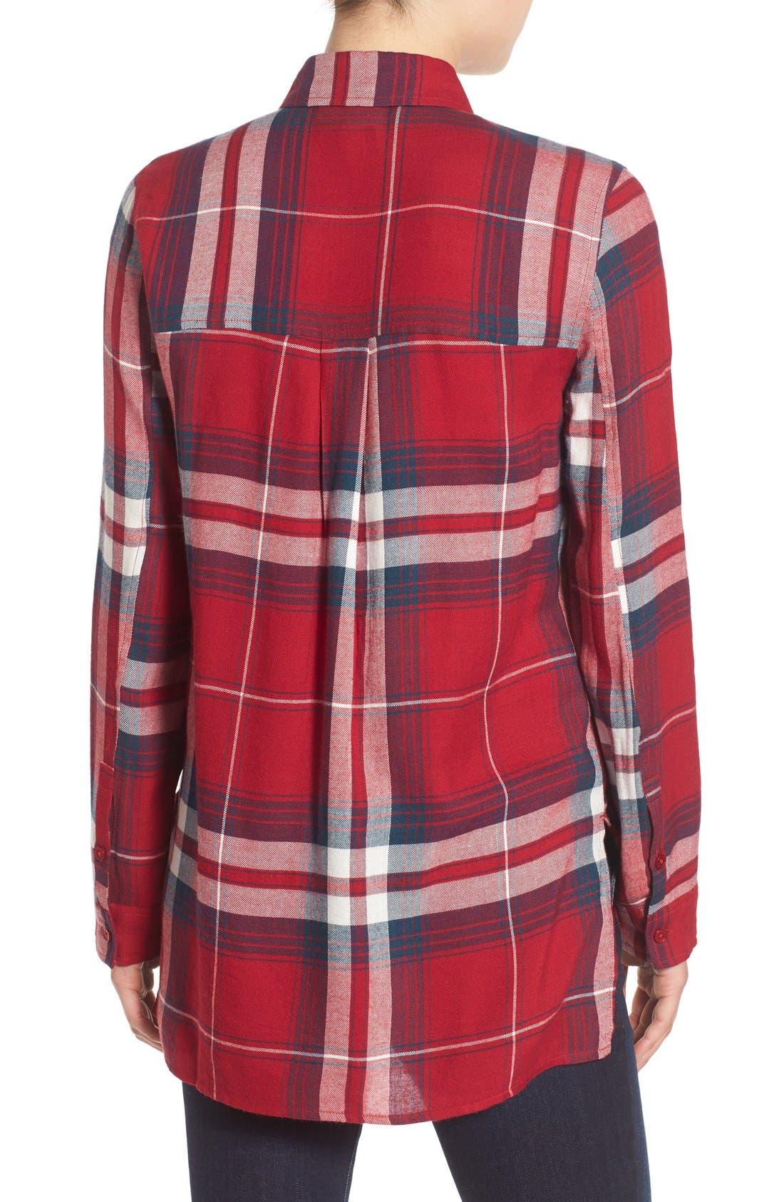 ,                             Plaid Tunic Shirt,                             Alternate thumbnail 34, color,                             610