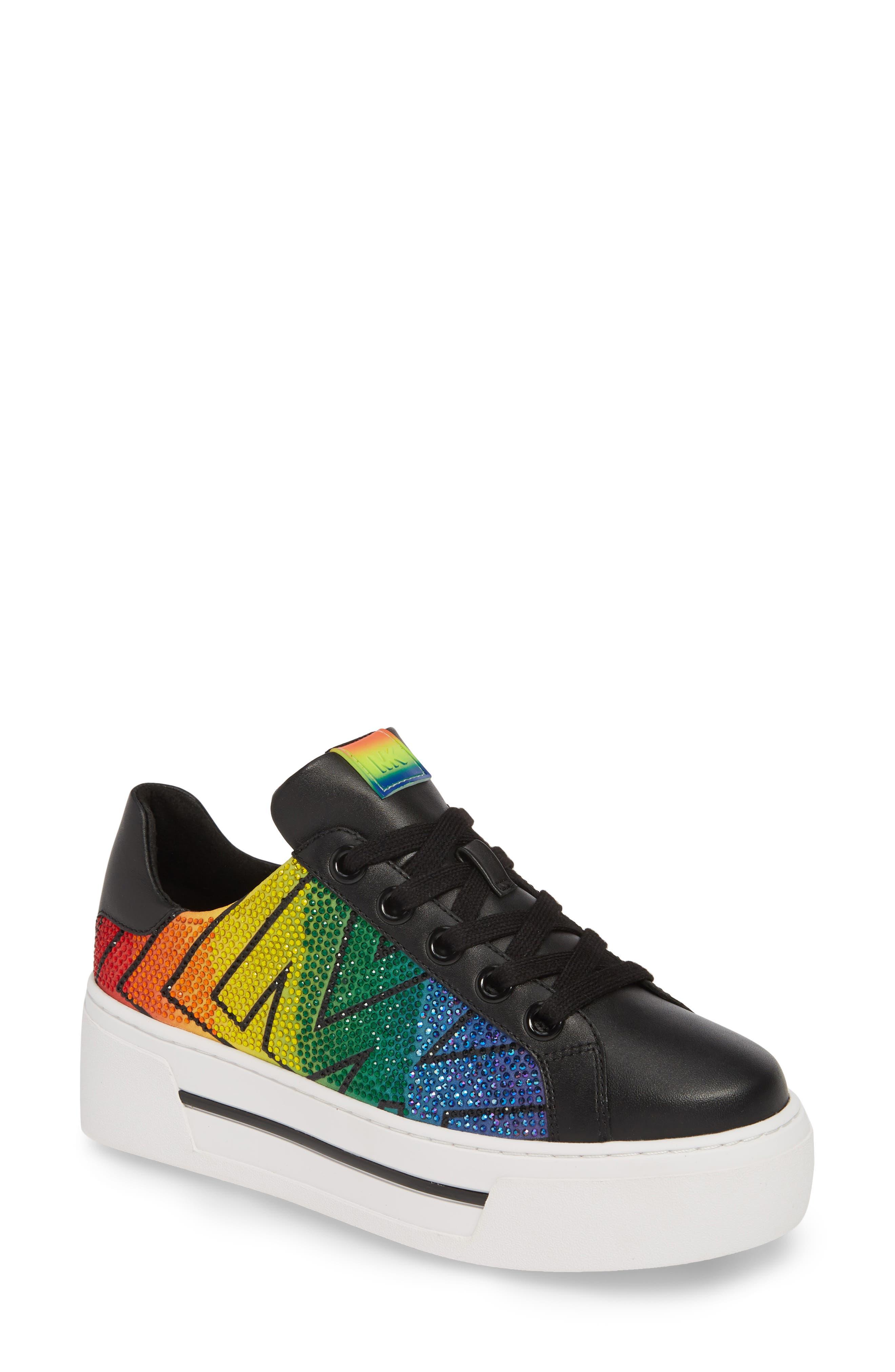 Michael Michael Kors Ashlyn Platform Sneaker, Black