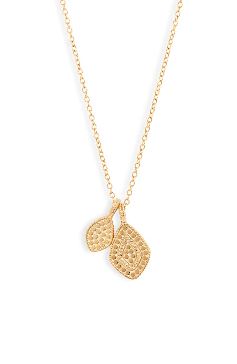 ANNA BECK Kite Double Pendant Necklace, Main, color, GOLD