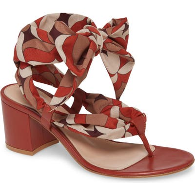 Gianvito Rossi Ankle Tie Sandal - Red