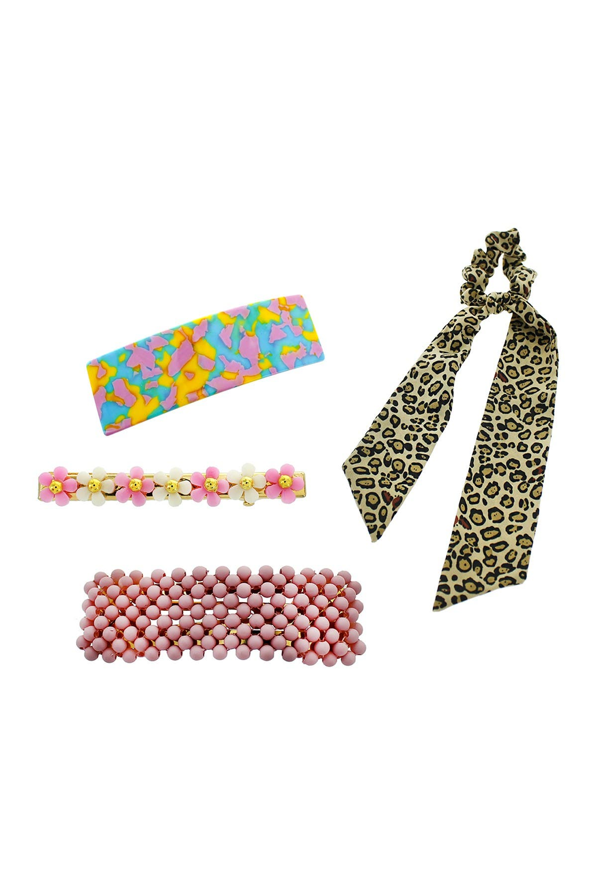 Image of Panacea Clip & Hair Scarf 4-Piece Set