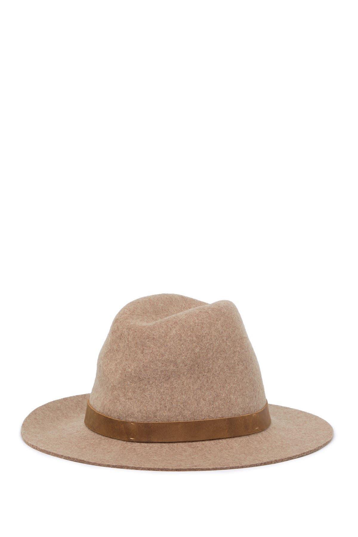 Image of Frye Tall Crown Felt Fedora Hat