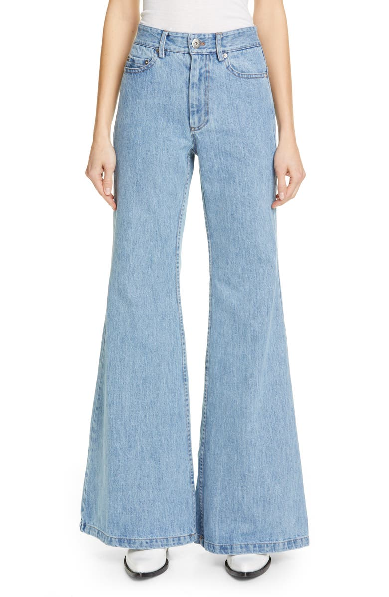 MATTHEW ADAMS DOLAN High Waist Flare Leg Jeans, Main, color, 400