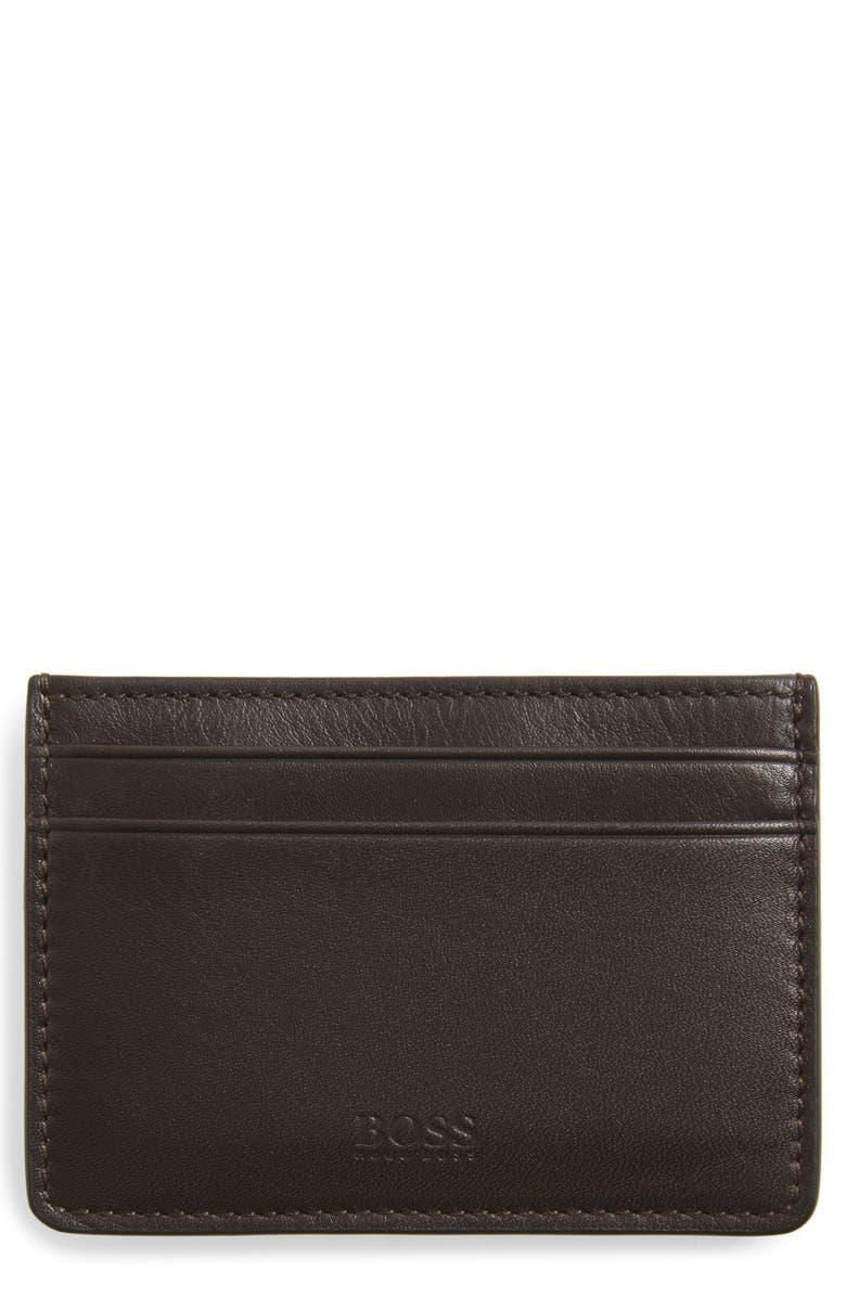 BOSS Majestic Money Clip Card Case, Main, color, 201