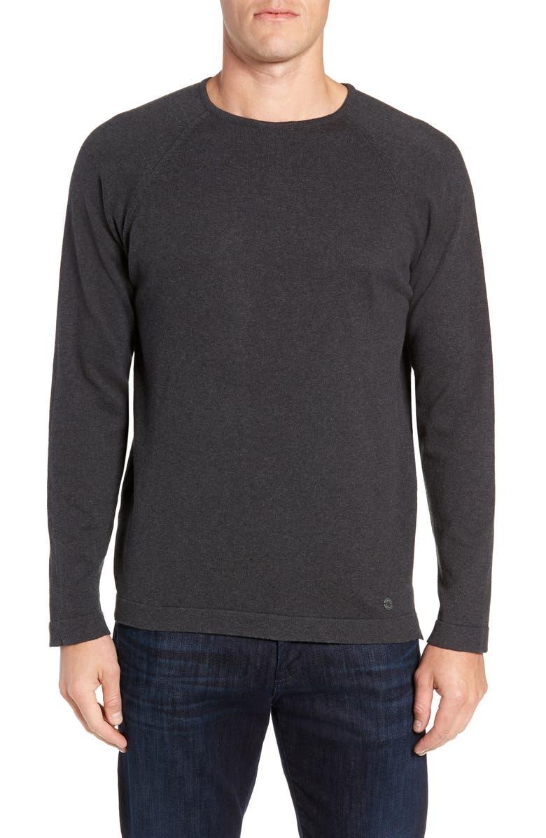 STONE ROSE Trim Fit Crewneck Sweater, Main, color, GREY