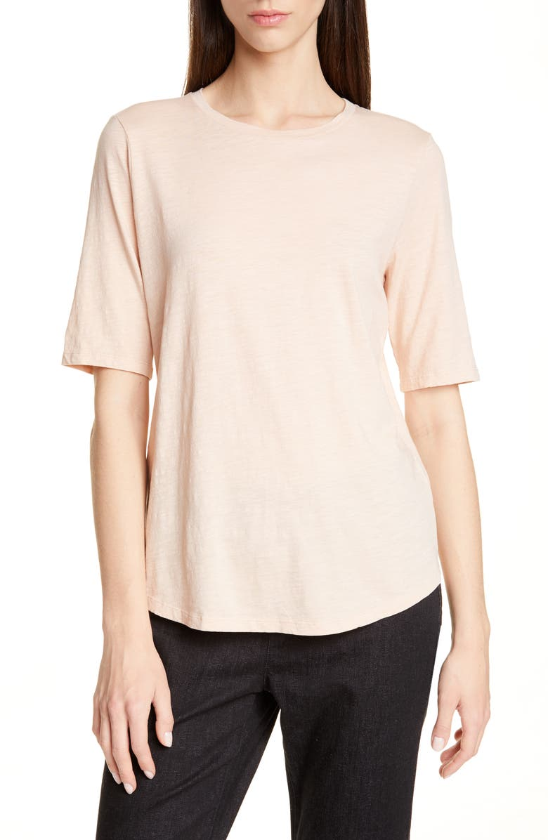 Eileen Fisher Crewneck Tee Regular Petite