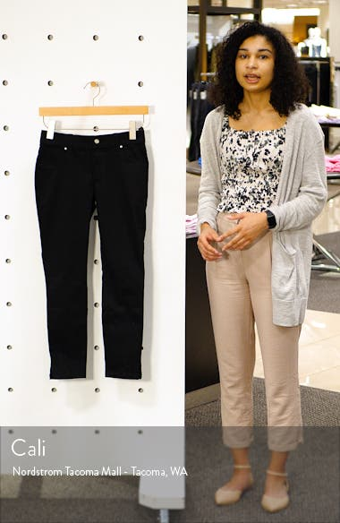 Slit Hem Capri Denim Leggings, sales video thumbnail