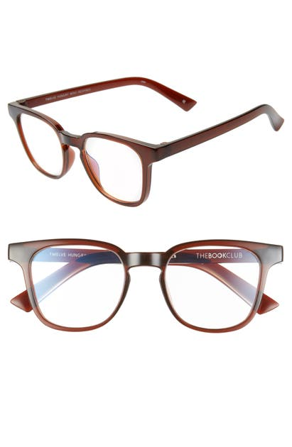 The Book Club TWELVE HUNGRY BENS 53MM READING GLASSES - CRYSTAL BOURBON